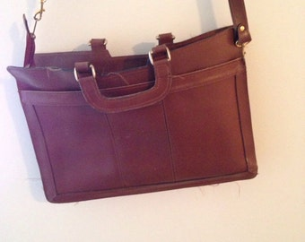 Sale Amazing large brown thick leather portfolio bag