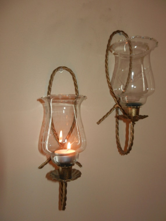 Wall Sconce Glass Chimney : Wall Sconces Glass Chimneys Burns Candles Great for