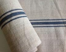 Vintage handwoven linen / floor runner / Antique european linen / burlap runner / hemp linen / stair runner