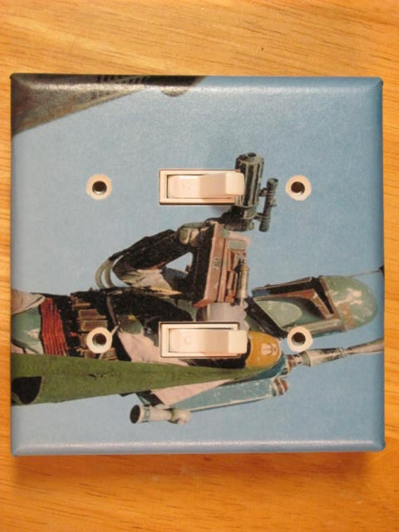 Boba Fett Star Wars Double Light Switch Plate Cover By