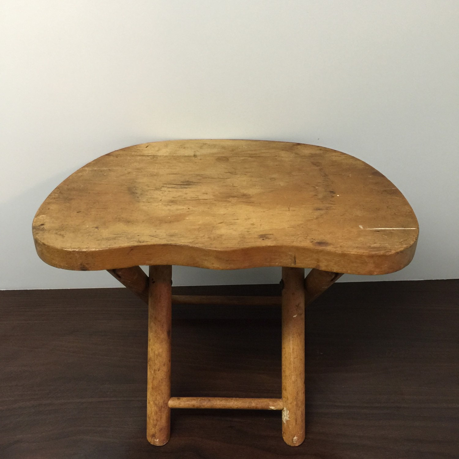 Antique Nevco Step Stool Wood Stool Plant Stand Foot