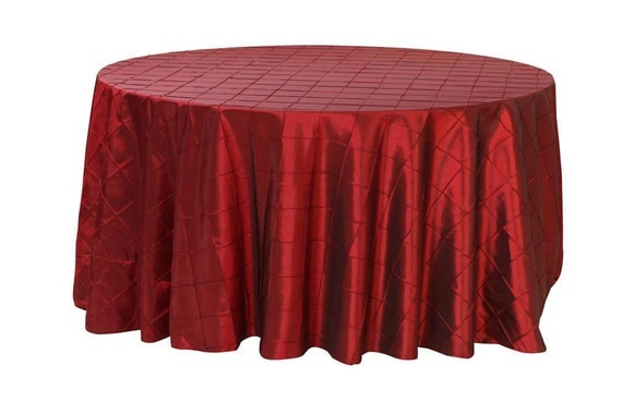 120 inch burgundy pintuck round tablecloth wedding for 120 round table cloths