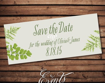 Wedding Save-the-Date Sample - with ferns