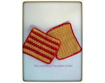 Wash cloths. Crochet Wash cloths. Baby wash cloths.  Bath or kitchen wash cloths. Made out of cotton yarn. Baby shower gift. Handmade.