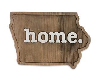 Iowa home. Rough Cut Mill Wood Wall Hanging