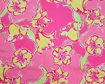"18"" x 18"" Lilly Pulitzer Sateen Fabric Day Lilly"