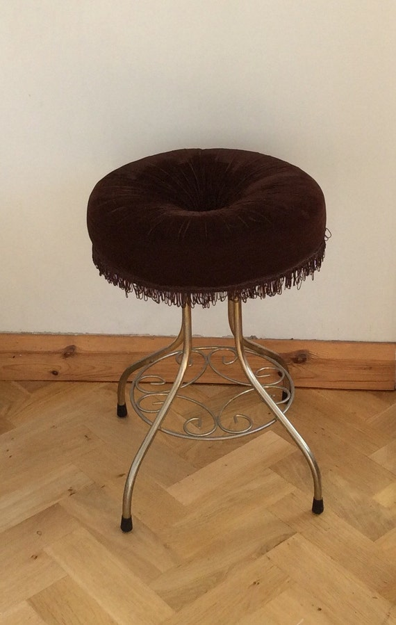 Antique Bed Stool: Vintage Vanity Stool Bedroom Boudoir By TheLittleIrishShop