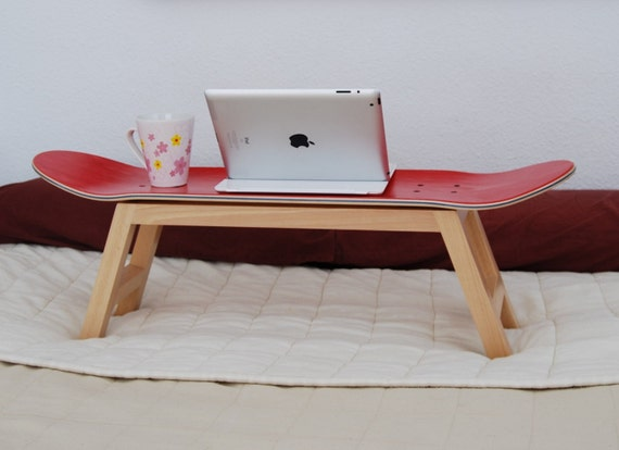 skate deck sport bed tray modern boyish bedroom decoration gift ideas