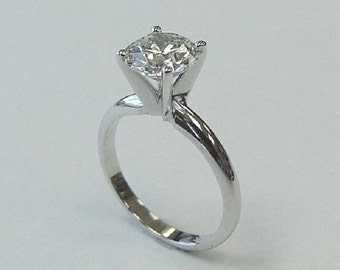 Diamond Solitaire Engagement Ring Solitaire Engagement Ring-14k White Gold