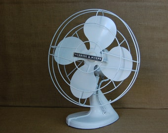Vintage Industrial Metal Fan, Robbins and Myers Fan, Industrial Metal Tanker Fan, Vintage desk fan, vintage home decor, vintage office decor