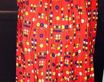 Vintage 70s Mr. Winn floral boho maxi skirt