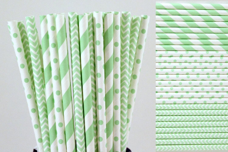 mint green paper straw mix mint green straws striped. Black Bedroom Furniture Sets. Home Design Ideas