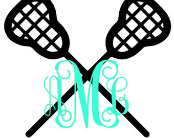 Lacrosse Monogram Decal
