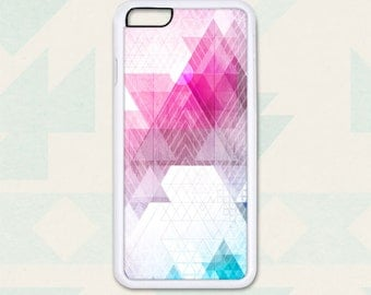 Triangles on Pink and Wood - Design Cover 214 - iPhone 6, 6+, 5 5s, 5c, 4 4s, Samsung S3, S4, S5