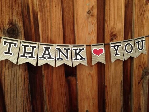 Thank you banner, Wedding banner,