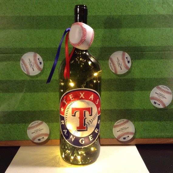 texas rangers lighted wine bottle 1 5 liter. Black Bedroom Furniture Sets. Home Design Ideas