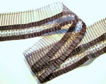 1 m plissee lace 65 mm width