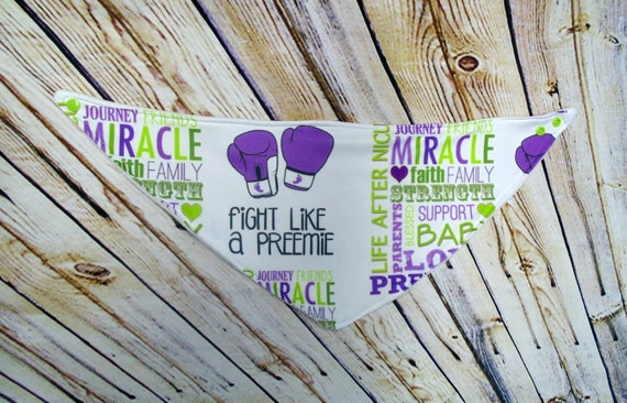 Bandana Bib, Traditional, Boy, Girl, Drool Bib, Dribble Bib, Fight Like A Preemie