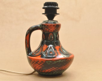 West-German pottery Table lamp foot - Jopeko - 1970s ceramics Germany - 106-17 - lamp base