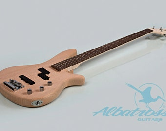 DIY Electric Bass Guitar Bolt On Solid Mahogany Body and Neck UNFINISHED BK004