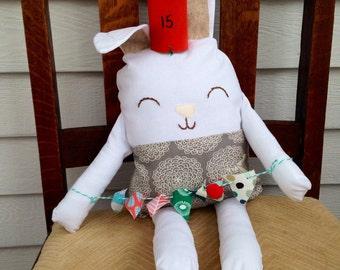 Birthday bunny softie