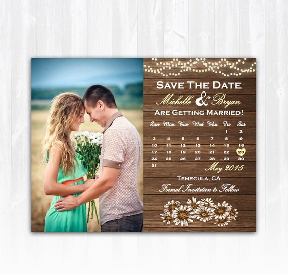 diy save the date magnets template - daisy save the date magnet or card diy printable digital file
