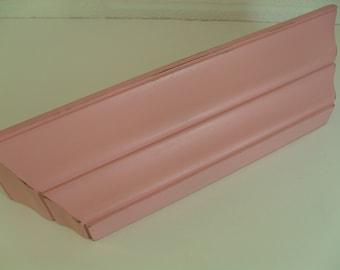 Pink Wall Shelf Nursery Shelf Girls Shelf Shabby Distressed
