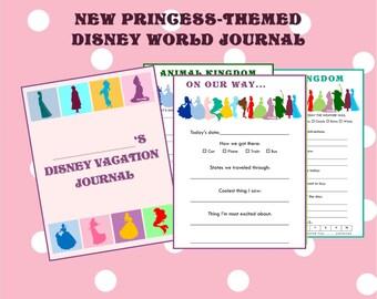 PRINTABLE Disney Vacation Journal Princess Themed