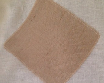 Rustic Burlap Placemats 16 x 17  Perfect for Spring and Summer
