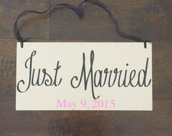 Just Married Sign Wedding Sign Wedding Signs Ringbearer Sign -- Wedding Signage --  ]Wedding Signs  -- Photo Prop