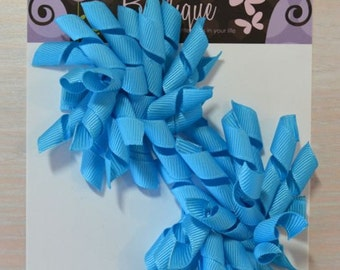 Korker Bow - Set of 2, Bright Blue