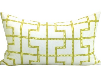 Bleecker lumbar pillow cover in Absinthe