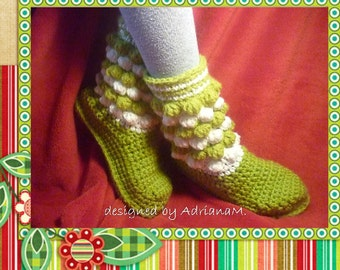 Crochet pattern- kids boots with DIY felt soles,booties,slippers,loafers,home shoes,toddler,girl,boy,shoemaking,sole tutorial included