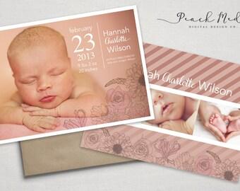 DIY - Birth Announcement | Photo Templates | Design 003