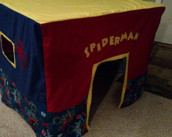 Spiderman Card table childrens fort