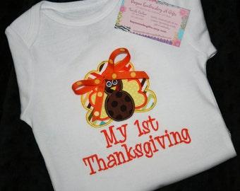 Baby Girl First Thanksgiving Onesie