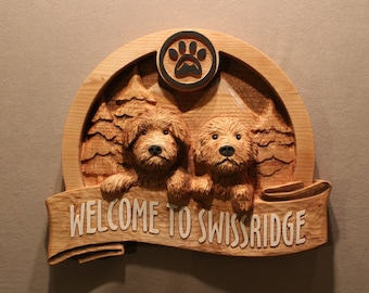 CUSTOM DOG SIGNS | Carved wood signs | Puppy Signs | Pet Signs | Carved Dogs | Cat Signs | Personalized Pet Signs | Custom Wood Signs