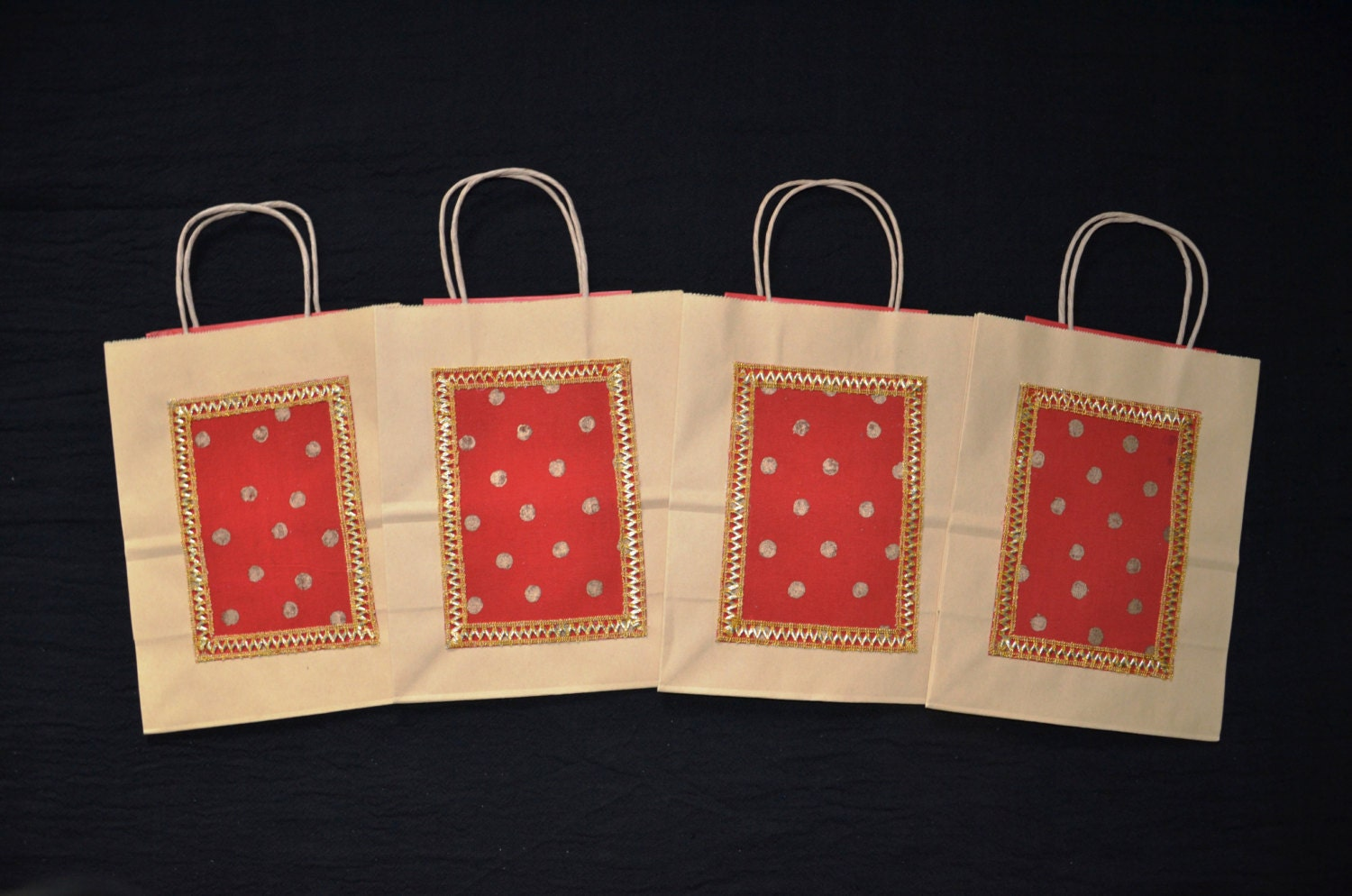 Red Wedding Gift Bags : Gift Bags Indian Wedding Gift Bags Kraft Gift Bags Red silk