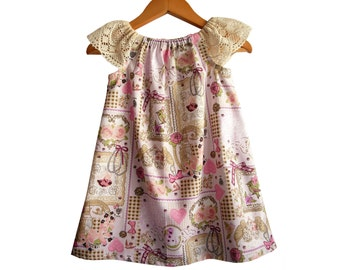 SALE 12-18M/ Baby Summer Dress/ Toddler Dress/ Children's Clothes/ Peasant baby dress/ Party Baby Dress/ 12-18 mths