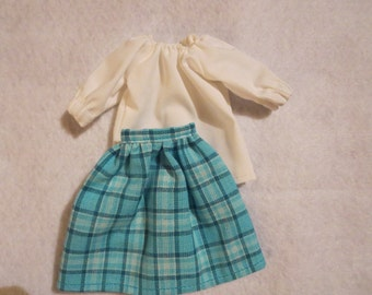 Handmade Barbie clothes - Blouse and skirt