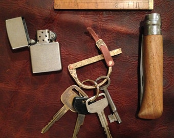 Brass Key Ring hand forged