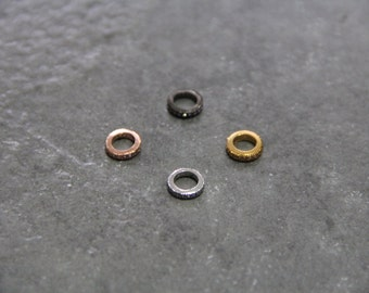 CZ Micro Pave 8mm Spacer  Beads