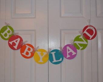 Babyland Baby Shower Banner - Candyland Baby Shower - Mom to Be
