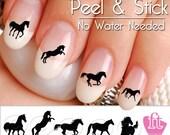 Horse Nail Art Decals - Western Horse Nail Art Decal Sticker Set