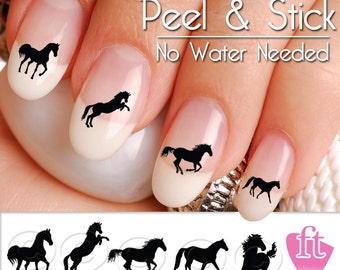 Horse Nail Art Decals - Western Horse Nail Art Decal Sticker Set
