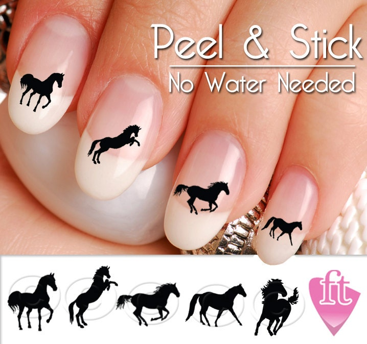 Western Nail Art: Horse Nail Art Decals Western Horse Nail Art Decal Sticker