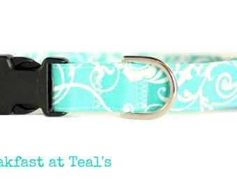 The Breakfast at Teal's Dog Collar - Adjustable (Small, Medium and Large)