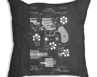 Colt M1889 Revolver Patent Pillow, Gun Lover, Gun Pillow, Han Gun, Gun Enthusiast, PP0005