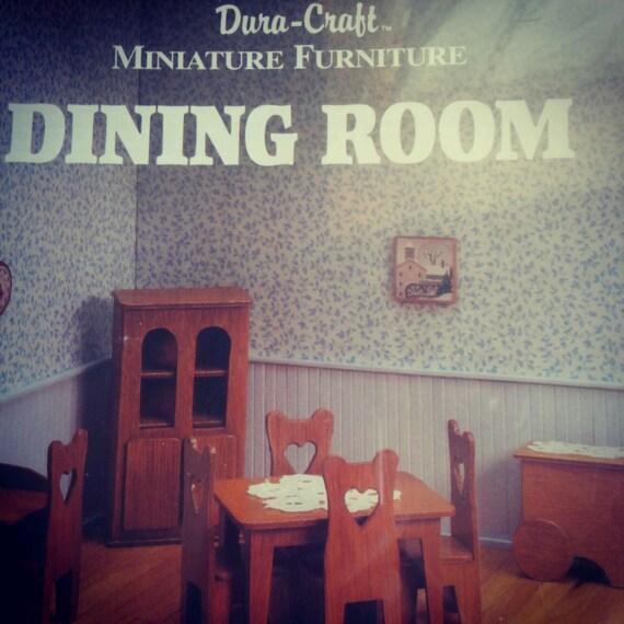 Dura Craft Miniature Furniture Kit : Dining Room