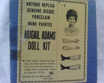 Vintage Bisque Abigail Adams Doll Kit with pattern